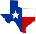Image of Commercial Fireproofing and Insulation Logo which looks like a Texas flag contained in an outline of Texas