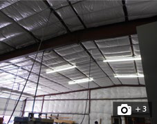 Image of pin and banded insulation.  Click here for more pin and banded insulation images.