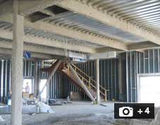Image of spray fireproofing.  Click here for more spray frieproofing images.